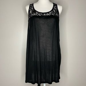 Old Navy plus lace detailed black tank